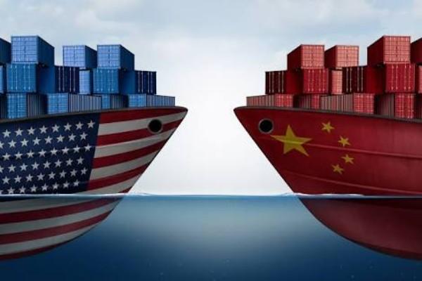 Ilustrasi perang dagang AS-China. - Istimewa