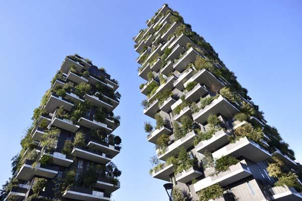 Ilustrasi green building. - Reuters