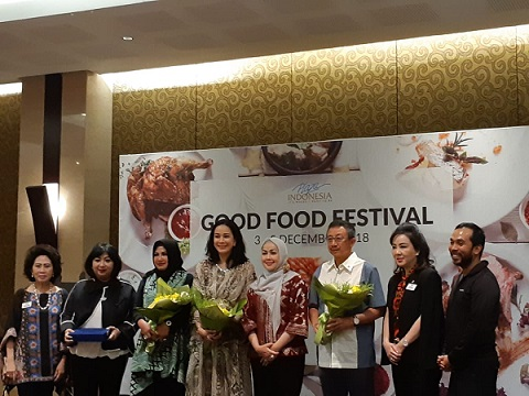 Konferensi Pers Good Food Festival 2018 di Function Hall Plaza Indonesia -  Bisnis/Eva Rianti