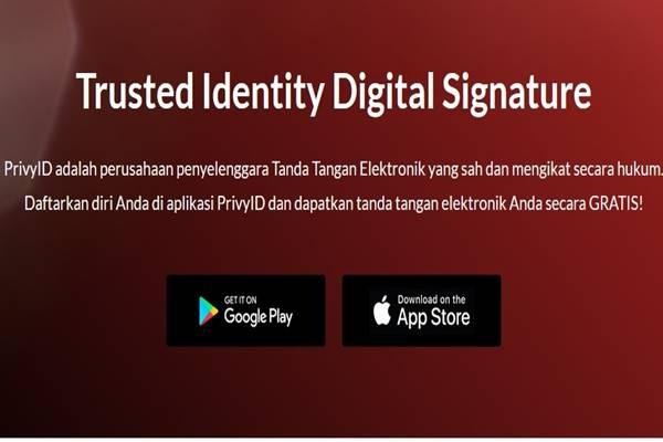 PrivyID, usaha rintisan yang berfokus pada tanda tangan digital. - Istimewa