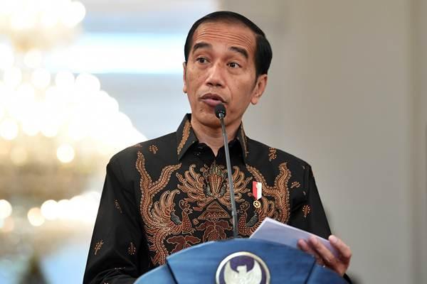 Presiden Joko Widodo memberikan keterangan pers terkait penembakan pekerja Trans Papua, di Istana Merdeka, Jakarta, Rabu (5/12/2018). - ANTARA/Wahyu Putro A