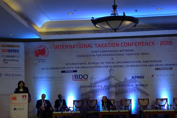 Monica Bhatia, Head of Global Forum Secretariat OECD di sela-sela International Taxation Conference 2018 di Mumbai, India. - Bisnis/Ana Noviani