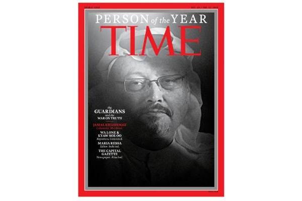Jamal Khashoggi menjadi salah satu Person of the Year Majalah TIME - Time/Reuters