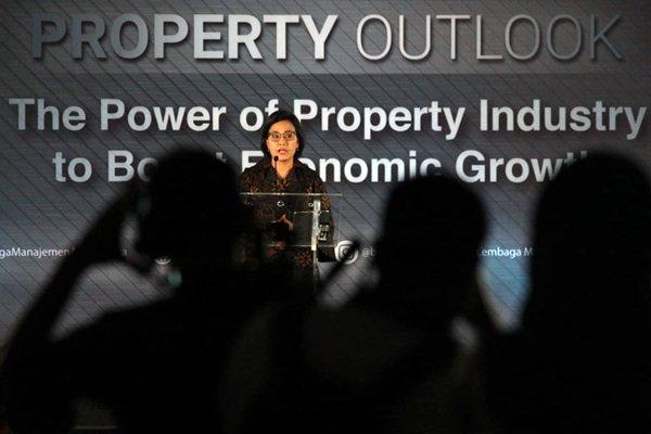 Menteri Keuangan Sri Mulyani menyampaikan sambutan pada talkshow Property Outlook 2019 bertema The Power of Property Industry to Boost Economic Growth, di Jakarta, Senin (17/12/2018). - JIBI/Dedi Gunawan