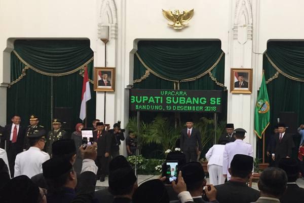 Ridwan Kamil Lantik Bupati & Wakil Bupati Subang dan ...