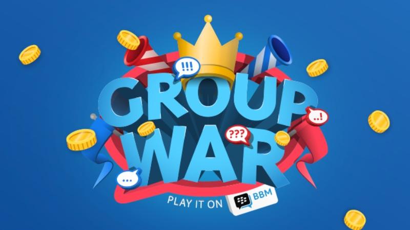 Logo Group War BBM. - Istimewa