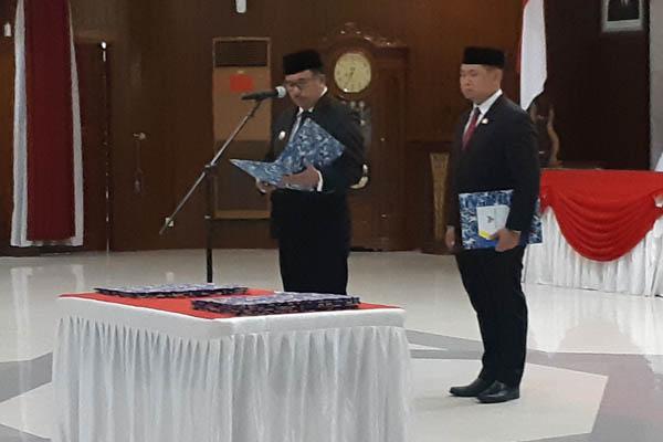 Walikota Balikpapan Rizal Effendi melantik pejabat baru Kamis (10/1/2019). - Bisnis/Gloria Fransisca Katharina Lawi