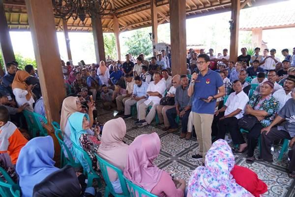 Cawapres 2019-2024 Sandiaga Uno saat berbicara di depan masyarakat Blora, Jawa Tengah, Jum'at (11/01/2019) - istimewa