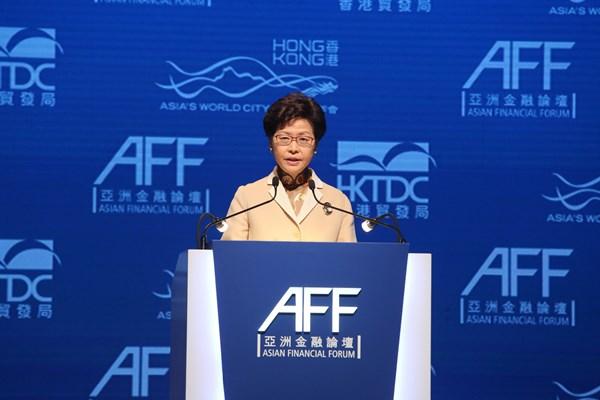 Carrie Lam, Kepala Wilayah Daerah Administrasi Khusus Hong Kong Carrie Lam.