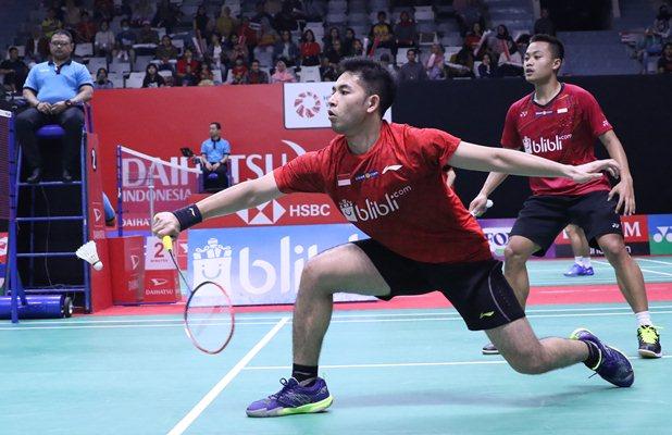 Ganda putra Akbar Bintang Cahyono-Moha Reza Pahlevi Isfahani  - Badminton Indonesia