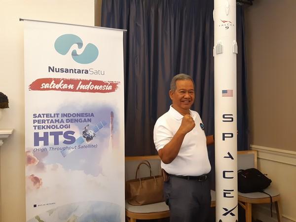 Direktur Utama PT Pasifik Satelit Nusantara (PSN) Adi Rahman Adiwoso - Bisnis/Syaiful Millah