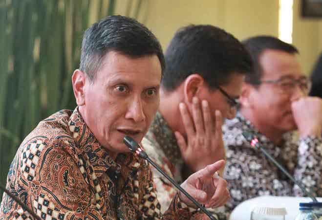 Wakil Direktur Utama BNI Herry Sidharta memaparkan Laporan Kinerja BNI 2018 di Jakarta, Rabu (23/1/2019). - ANTARA/Reno Esnir