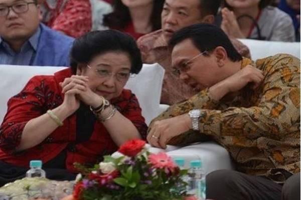 Ketua Umum PDIP Megawati Soekarnoputri dan Basuki Tjahaja Purnama (Ahok). - Instagram @basukibtp