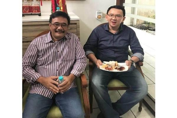 Politisi PDIP Djarot Saiful Hidayat dan Basuki Tjahaja Purnama (Ahok) - Instagram @djarotsaifulhidayat