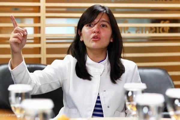 Sekretaris Jenderal Persatuan Sepak Bola Seluruh Indonesia (PSSI) Ratu Tisha Destria. - Bisnis/Dwi Prasetya