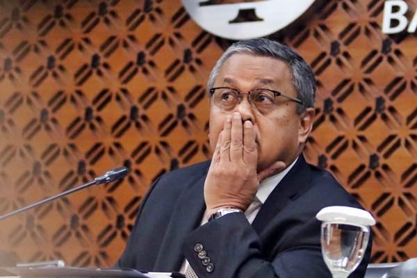 Gubernur Bank Indonesia Perry Warjiyo di sela-sela jumpa pers terkait Rapat Dewan Gubernur (RDG), di Jakarta, Kamis (17/1/2019). - Bisnis/Nurul Hidayat