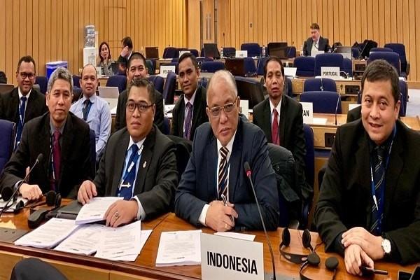 Delegasi Indonesia dalam Sidang Plenary IMO di London, Jumat (25/1/2019) - Dok. Ditjen Perhubungan Laut Kemenhub RI