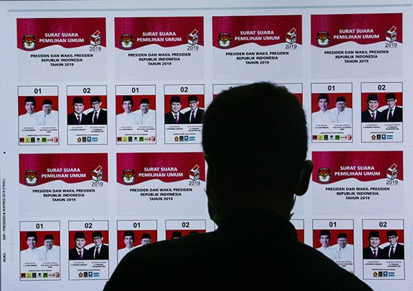 Cetak surat suara Pemilu 2019 di PT Aksara Grafika Pratama-Bisnis - Felix Jody Kinarwan