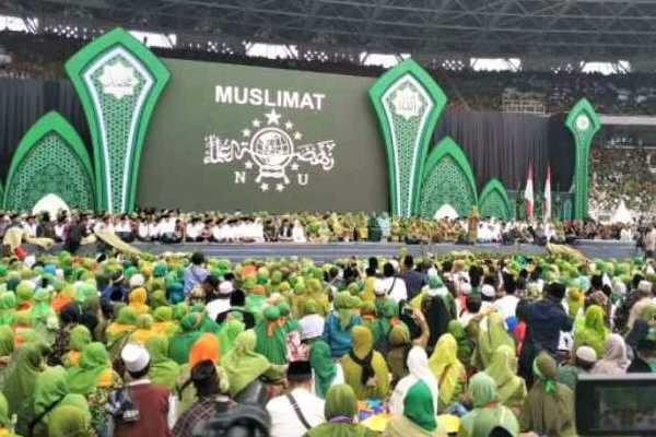 Suasana di Harlah Muslimat NU - Twitter