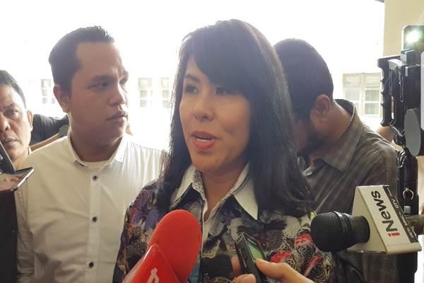 Penasihat Hukum Basuki Tjahaja Purnama (Ahok), Fifi Lety Tjahaja Purnama memberi keterangan di PN Jakarta Utara, Rabu (31/1/2018). - Bisnis.com/ Sholahuddin Al Ayyubi