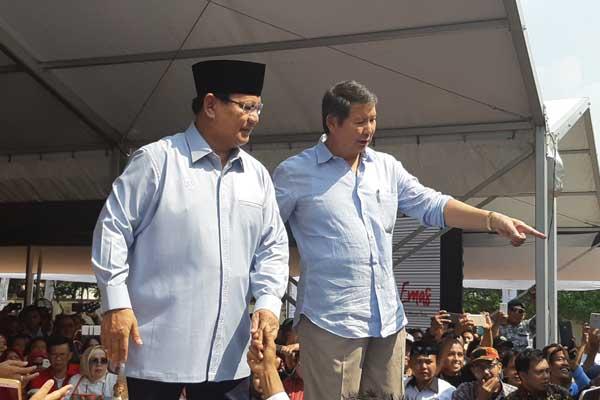 Prabowo Subianto bersama adiknya Hashim Djojohadikusumo. - Bisnis/Jaffry Prabu Prakoso