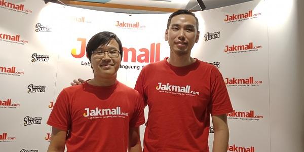 Chief Marketing Officer Jakmall.com Reza Anggi Prasetyo (kiri) dan Co/Founder dan Chief Business Development Officer Jakmall.com Sugiri R. Wijaya (kanan)