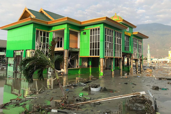 IAIN Palu setelah dihantam gempa dan tsunami tahun lalu. - Istimewa