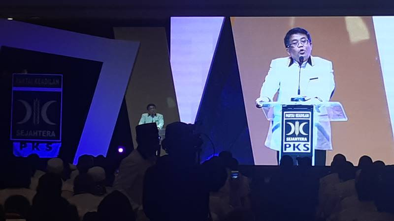 Presiden PKS Sohibul Iman  saat berpidato pada acara Konsolidasi Nasional Anggota DPR-DPRD PKS di Jakarta, Rabu (30/1/2019)./JIBI/BISNIS - Jaffry Prabu Prakoso