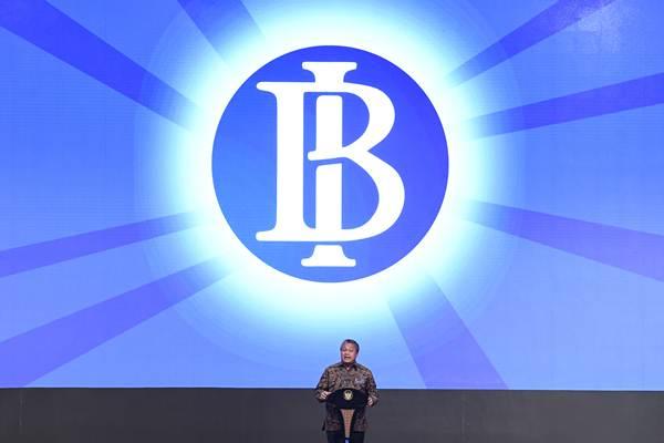 Gubernur Bank Indonesia Perry Warjiyo menyampaikan sambutan pada Pertemuan Tahunan Bank Indonesia Tahun 2018 di Jakarta, Selasa (27/11/2018). - ANTARA/Puspa Perwitasari