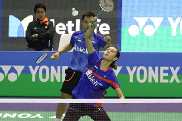 Pasangan ganda campuran Hafiz Faisal dan Gloria Emanuelle Widjaja - Badminton Indonesia