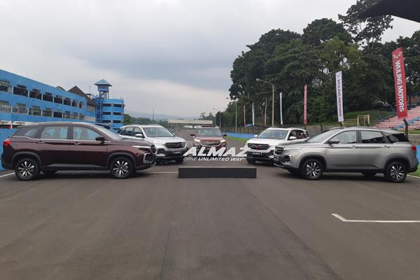 Produsen mobil PT SGMW Motor Indonesia (Wuling).  - Bisnis.com/Thomas Mola