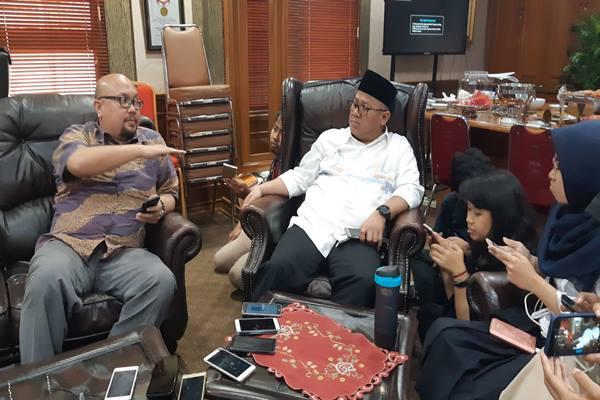 Ketua KPU Arief Budiman (kanan)./JIBI/BISNIS - Jaffry Prabu Prakoso