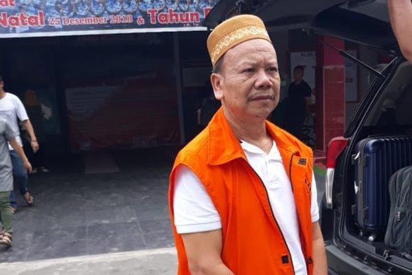 Thamrin Ritonga setelah sampai di Lapas Tanjung Gusta, Medan - KPK