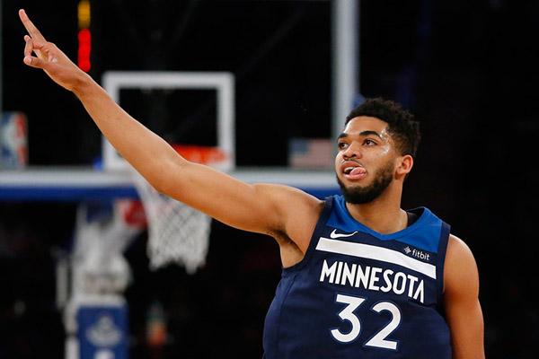 Bintang Minnesota Timberwolves Karl-Anthony Towns - Reuters