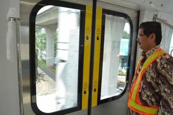 Wali Kota Jakarta Selatan Marullah Matali meninjau proyek MRT fase I Lebak Bulus-Bundaran Hotel Indonesia. - Istimewa
