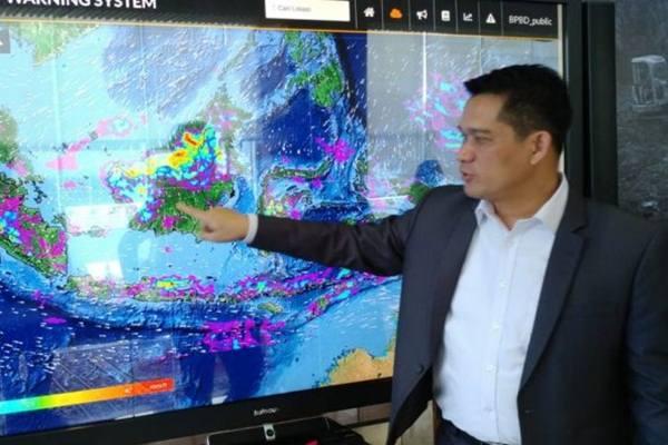 Pakar hidrometeorologi Institut Teknologi Bandung (ITB) Armi Susandi di Graha Badan Nasional Penanggulangan Bencana (BNPB), Jakarta, Kamis (31/1/2019).  - Antara