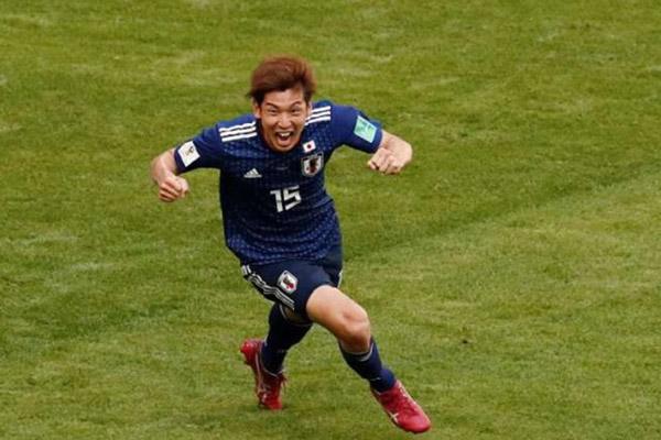 Pemain Timnas Jepang Yuya Osako ketika tampil di Piala Asia 2019. - Reuters/Damir Sagolj