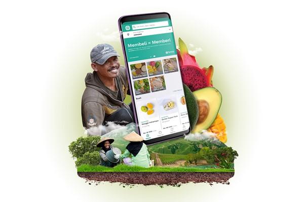 Aplikasi TaniHub di Android