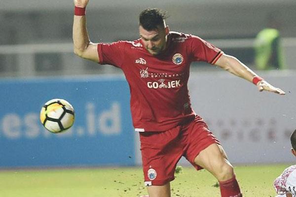Striker Persija Marko Simic - Antara/Akbar Nugroho Gumay