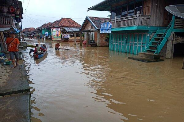 Banjir di Kabupaten Musi Rawas Utara, Sumsel. - Istimewa