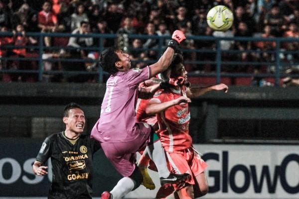 Pertandingan Borneo FC vs PSS Sleman di stadion Segiri Samarinda, Jumat (15/2/2019) - @PSSleman