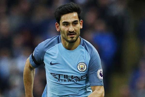 Gelandang Manchester City Ilkay Gundogan - Reuters