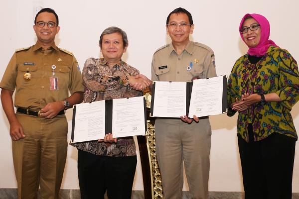 Badan Pengkajian dan Penerapan Teknologi (BPPT) bersama Pemerintah Provinsi DKI Jakarta tanda tanganin Perjanjian Kerja sama di Balairung Balaikota Pemprov DKI (19/2/2019) - Bppt.go.id