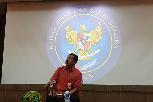 Kepala Badan Siber dan Sandi Negara (BSSN) Mayjen TNI Djoko Setiadi - Bisnis.com/Sholahuddin Al Ayyubi
