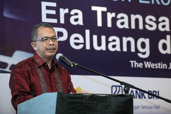 Deputi Gubernur Bank Indonesia Sugeng memberikan sambutan dalam seminar Tren Ekonomi Digital: Era Transaksi Elektronik, Peluang, dan Tantangan, di Jakarta, Rabu (4/4/2018). - JIBI/Felix Jody Kinarwan