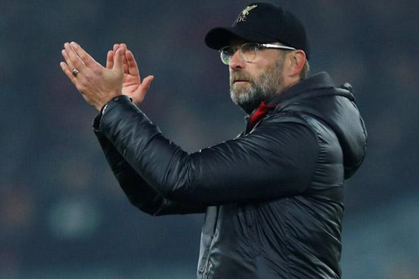 Pelatih Liverpool Jurgen Klopp, tim besutannya berpeluang kembali mengisi pucuk klasemen. - Reuters/Phil Noble