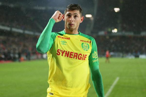 Emiliano Sala saat masih membela Nantes. - L'Equipe