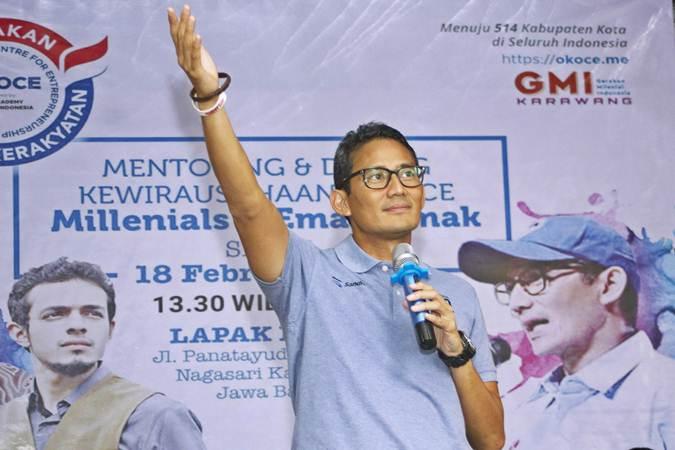 Calon Wakil Presiden Nomor urut 02 Sandiaga Uno - ANTARA/M Ibnu Chazar