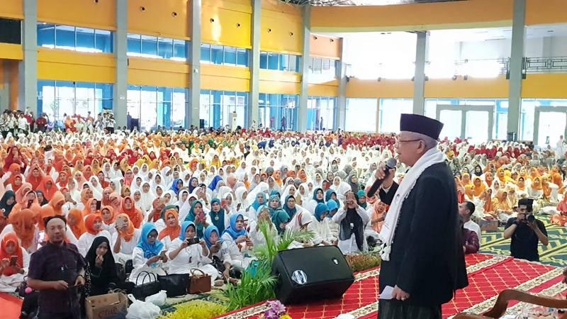 Pengajian dan silaturahmi bersama KH Ma'ruf Amin di Kota Makassar Sulawesi Selatan, Kamis (21/2/2019). - Dok. Tim Kampanye Cawapes Ma\'ruf Amin
