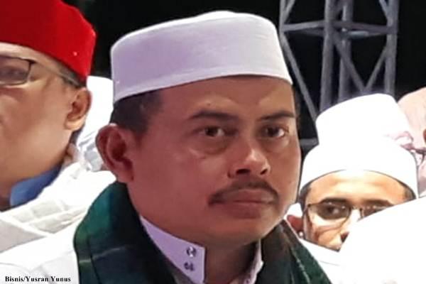 Ketua umum Persaudaraan Alumni (PA) 212, Slamet Ma'arif/Bisnis - Yusran Yunus